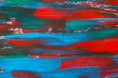 Texture Paint Background With Blue And Red Strokes