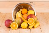 ripe mango and citrus fruits