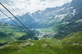 picture of ropeway  - Photo taken from a height of ropeway - JPG