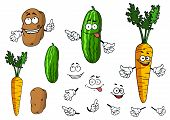 Cartoon vegetable characters