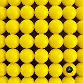 Abstract technology background with balls. Spherical pattern. 3d vector illustration.