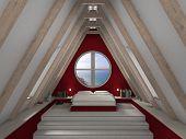 cozy bedroom beneath the roof