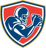 American Football Player Ball Side Shield