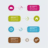 Modern template with colorful volume elements of infographics