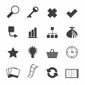 Silhouette Simple Internet and Web Site Icons