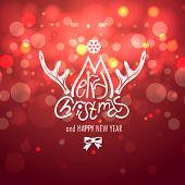Winter Christmas Blurred Bokeh Background