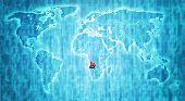 Angola Territory On World Map