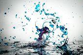 Splintering Wine Glasses And Liquid Splash