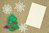 Jute Yarn Knitted Fabric, Snowflakes, Christmas Tree