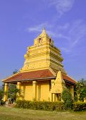 Little Pagoda In Temple And Blue Sky