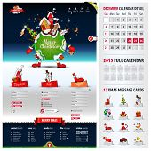 Five Components Website Template For Christmas