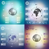 Infographics set, templates for business design