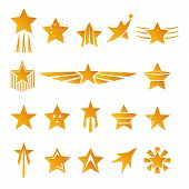 Gold Stars for Logos and Emblems