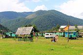 Old narrow-gauge railway in Transcarpathia