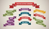 Vintage Ribbons for Marketing and Sales