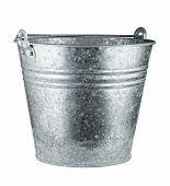 pic of bucket  - Metallic bucket isolated on white background - JPG