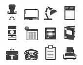 Silhouette Simple Business, office and firm icons