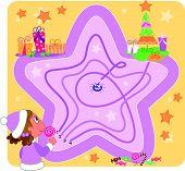 Christmas maze game vector