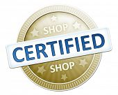 An image of a useful shop certified button