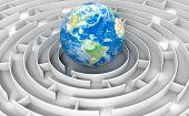 Maze to globe