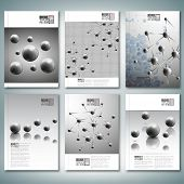 Drops, molecule structure. Brochure, flyer or report for business, template vector