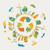 Eco concept - earth green