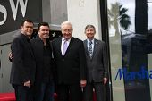 LOS ANGELES - DEC 11:  Jimmy Kimmel, Seth MacFarlane, Don Mischer, Leron Gubler at the Don Mischer Star on the Hollywood Walk of Fame at the Hollywood Boulevard on December 11, 2014 in Los Angeles, CA