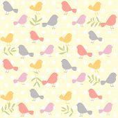 birds pattern retro