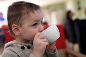 Kid Drinks Tea