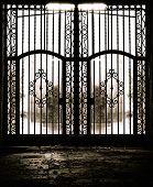 Closed old metal gate