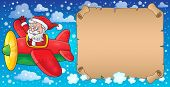 Santa Claus in plane theme image 7 - eps10 vector illustration.