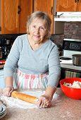 Grandma Making Pies