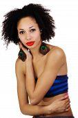 Skinny Light Skinned Black Woman Tube Top