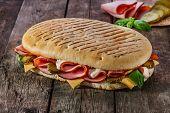 panini with ham and cheese