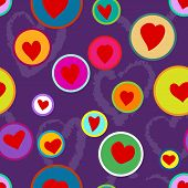 Seamless Hand Drawn Heart Pattern