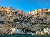 Corsica, France, skyline of Bonifacio