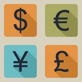 Vector icons of money