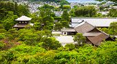 Aerial View Of Buddhist Temple And Garden In Kyoto, Japan