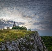 picture of calvary  - Calvary on the Rocky Hill in the Evening - JPG
