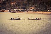 Traditional Thai Boats In  Phang Nga,phuket, Thailand