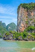 Rocks And Sea Landscape On Island In Thailand, Phuket
