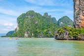 Rocks And Sea Landscape On Island In Thailand, Phuket