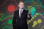 Young Businessman Using Modern Technologies