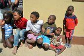 children living in Mondesa slum