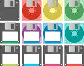 Floppy Disks in Different Colours