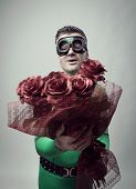 Romantic Superhero With Roses