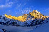 Starry Sky Over Machhepuchare And Annapurna Base Camp - Nepal, Himalayas