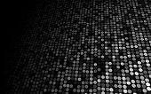 Black And White Dots Stage Background