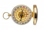Retro Brass Compass