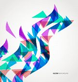 Abstract Triangle Geometric colorful wave